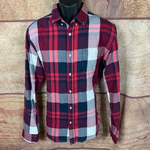 Aeropostale plaid shirt button front size medium